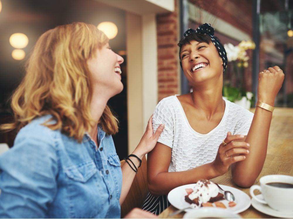 heart health women laughing