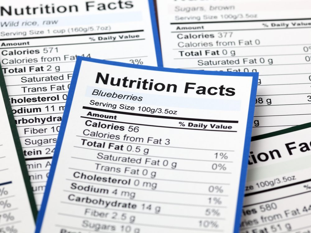 heart health nutrition labels