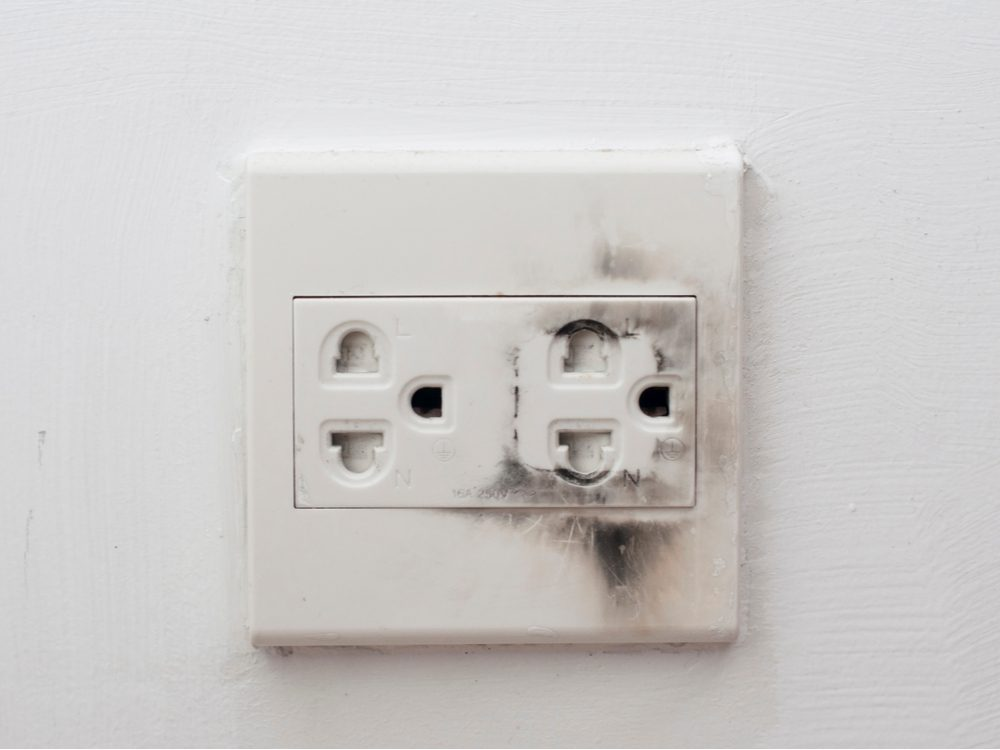 Home safety hazards - electrical outlets