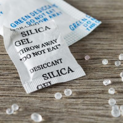 Home safety hazards - silica gel packets