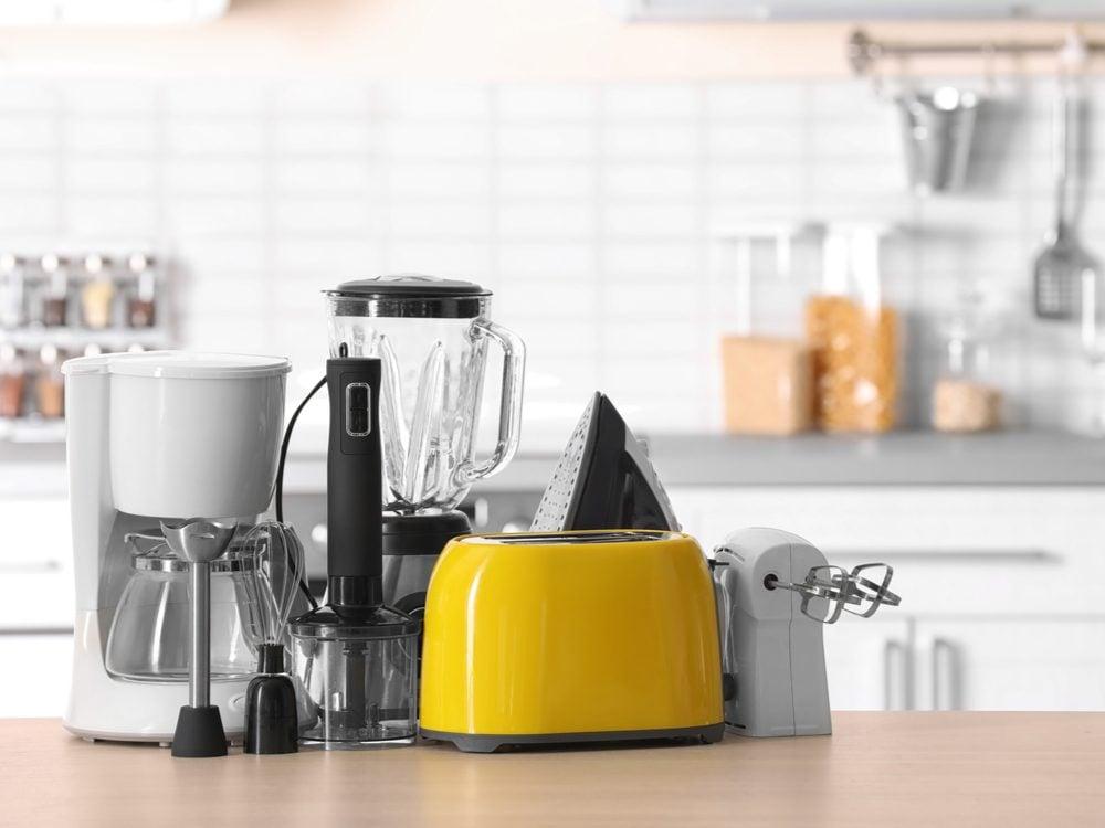 Home safety hazard - small appliances around water