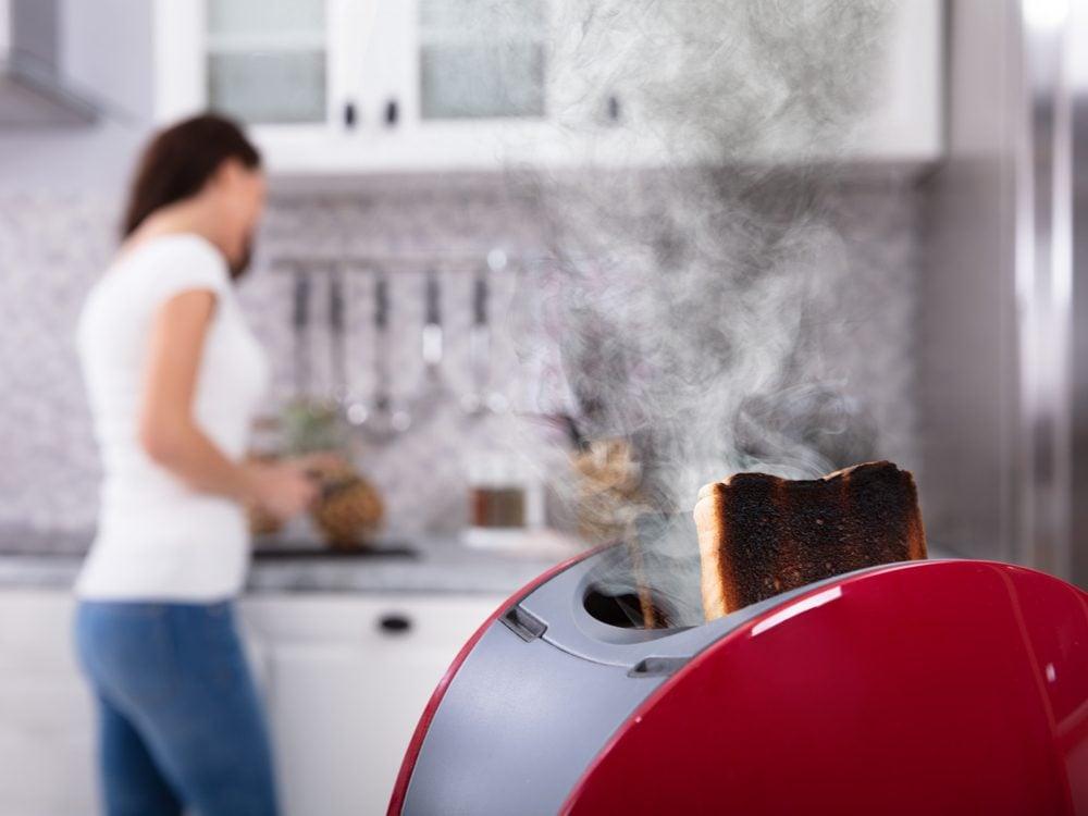 Home safety hazards - toaster