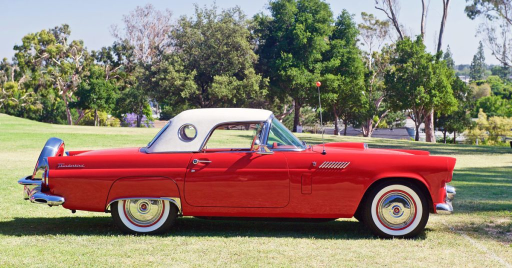 Red Ford Thunderbird