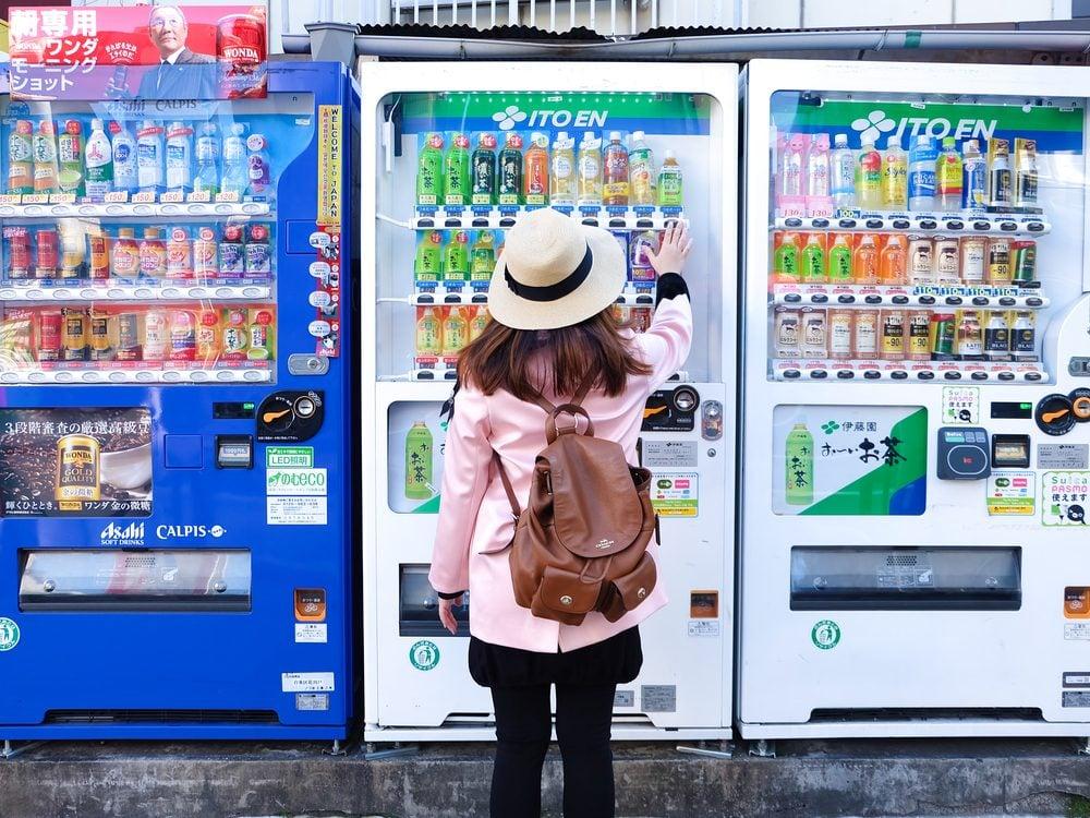 Vending machine in Japan