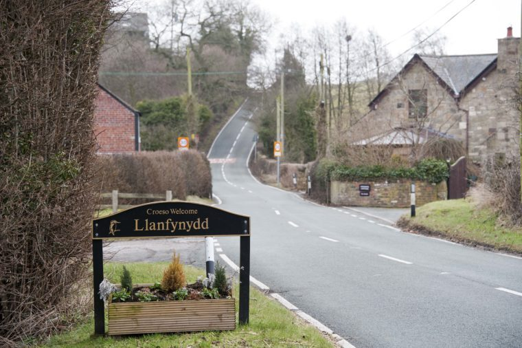 Llanfynydd, the safest village in Wales according to new Home Office 'crime maps' website, Wales - 04 Feb 2011