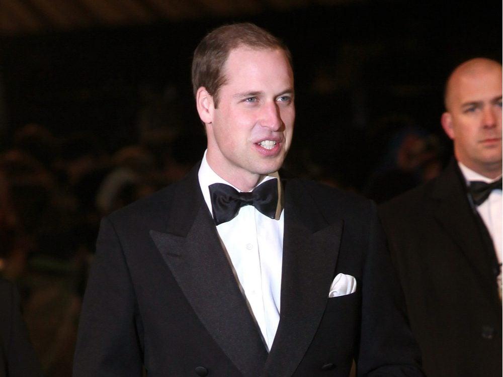 Prince William in a tuxedo