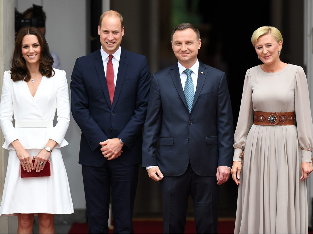 Prince William and Kate Middleton visiting Poland