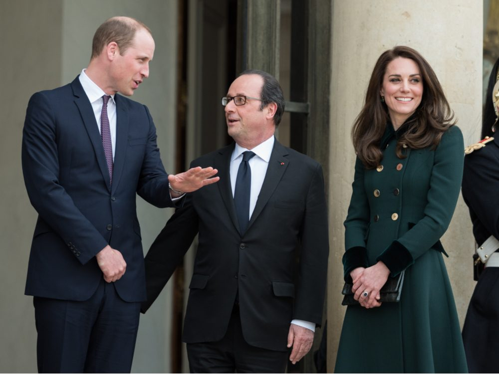 Prince William and Kate Middleton in France