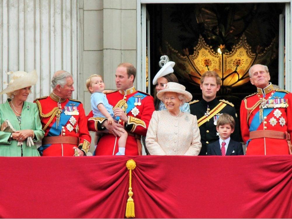 The royal family celebrating
