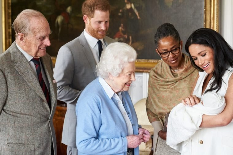 Queen Elizabeth II meets new grandson Archie Harrison Mountbatten-Windsor, Windsor Castle, UK - 08 May 2019