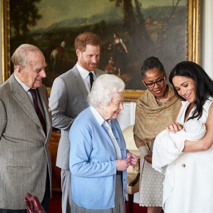 Queen Elizabeth II meets new grandson Archie Harrison Mountbatten-Windsor, Windsor Castle, UK - 08 May 2019