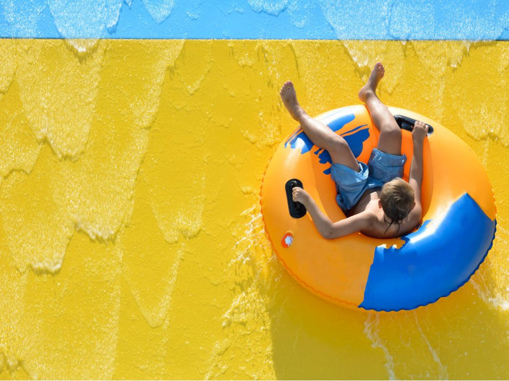 Slide at water park