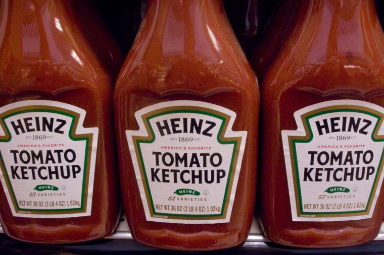 bottles of Kraft Heinz Tomato Ketchup