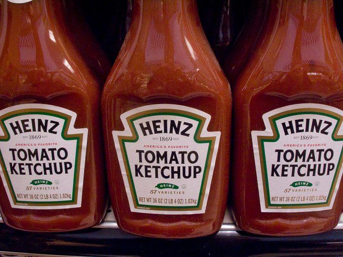 bottles of Kraft Heinz Tomato Ketchup