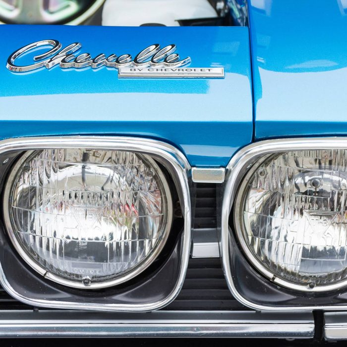 Blue muscle cars