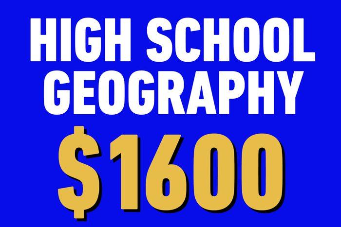 high school geography 1600