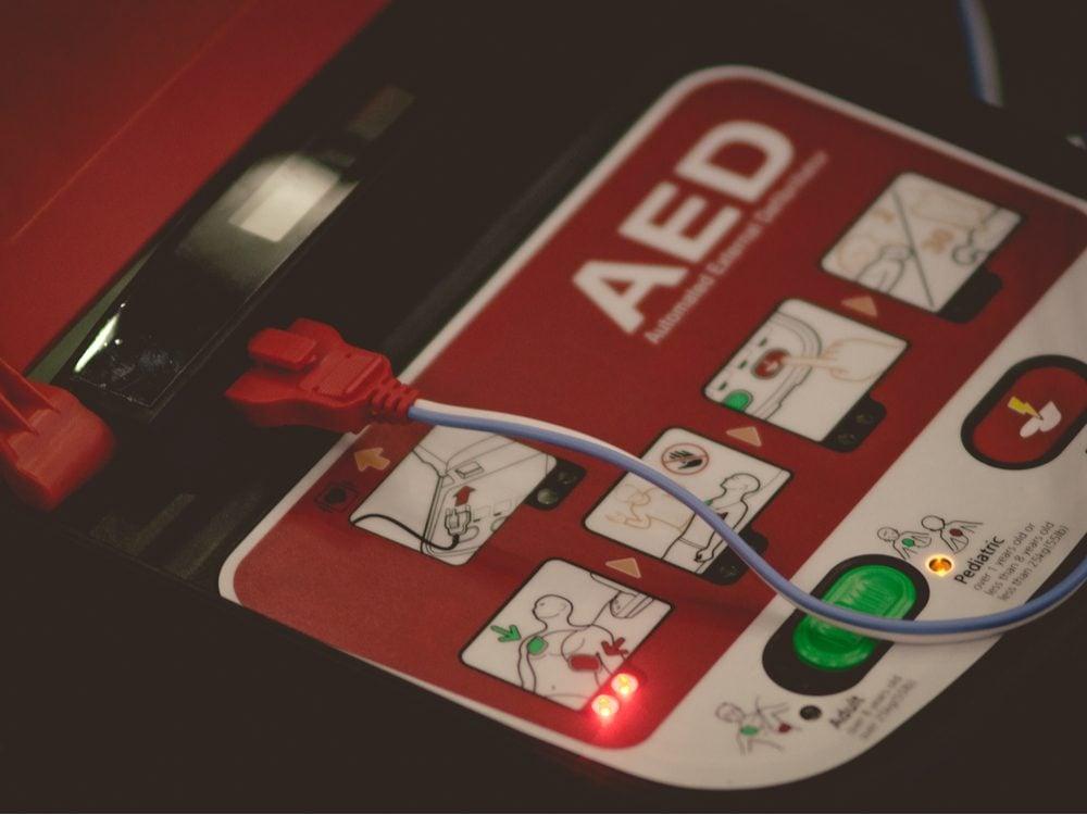 13 things paramedics AED closeup