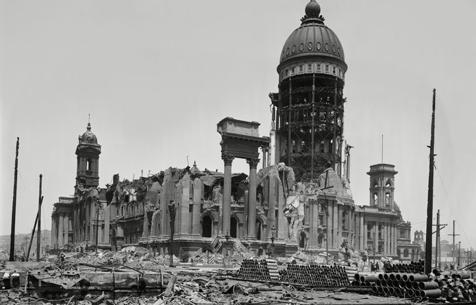 City Hall Ruins after Earthquake, San Francisco, California
