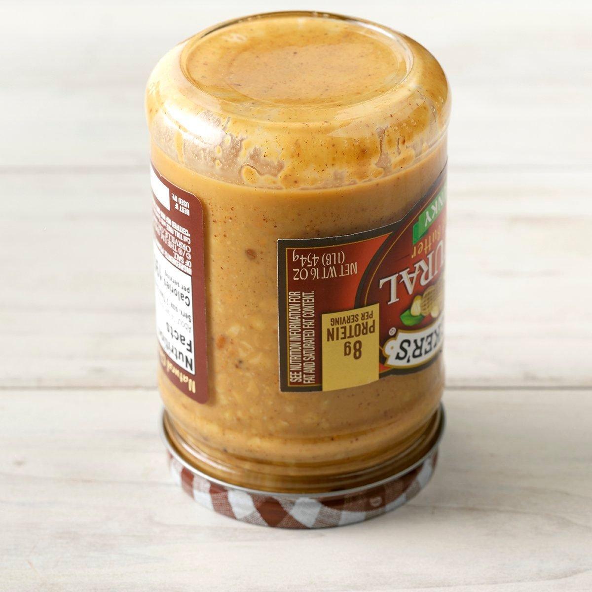 THGKH19, Kitchen Hack Storing Natural Peanut Butter Upside Down