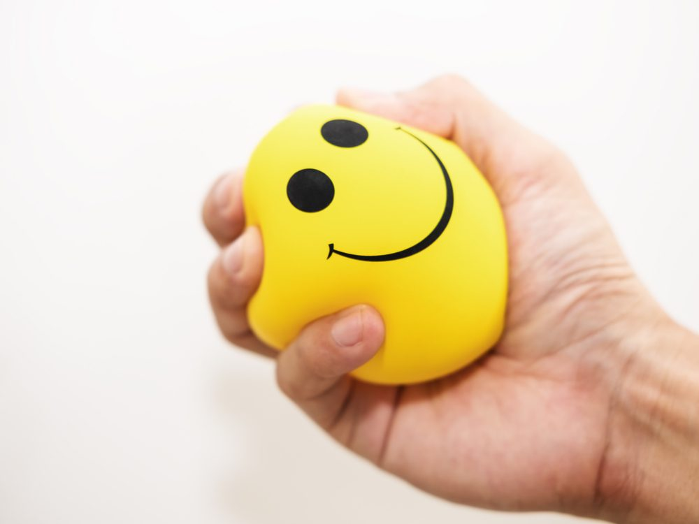 getting angry stressball