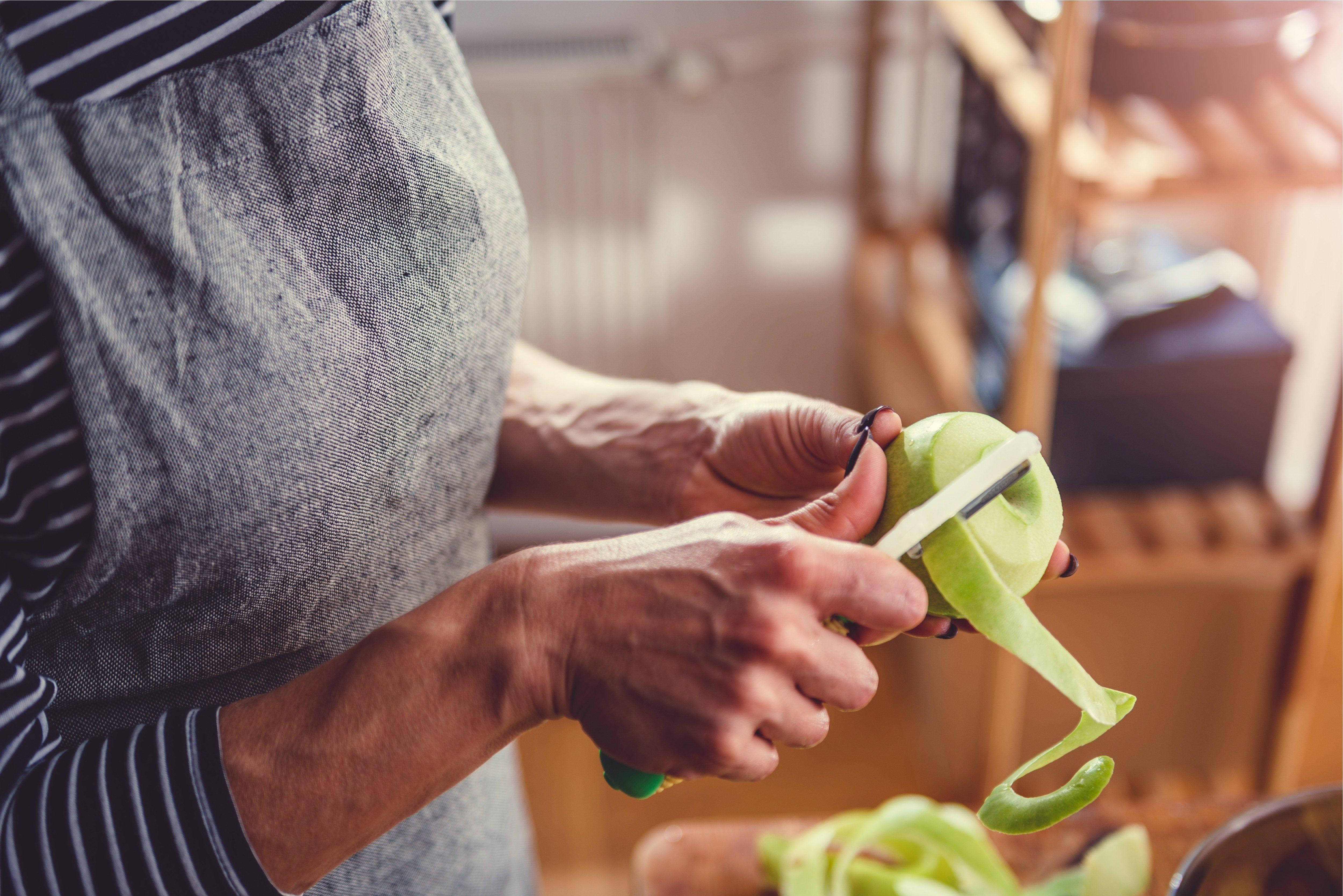 bad cooking habits peeling fruit
