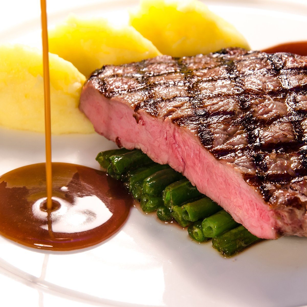 beef steak with sauce