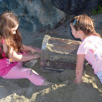 Hunting for Buried Treasure on Chesterman Beach