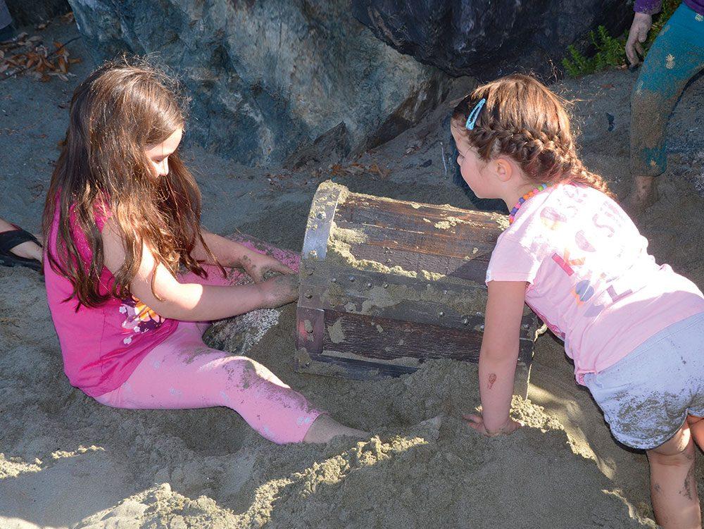 Buried treasure on Chesterman Beach