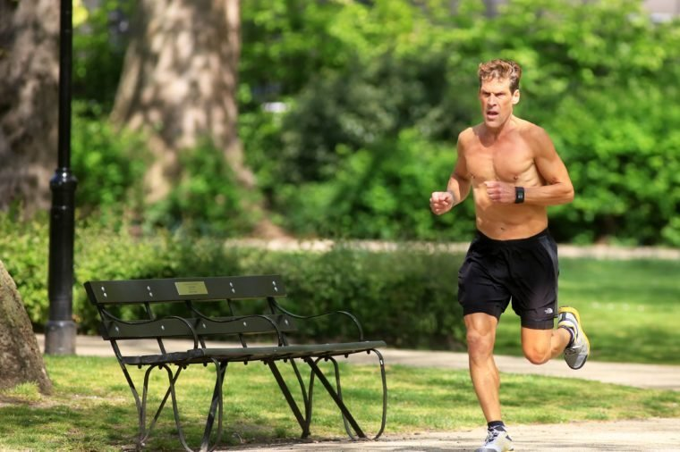 Dean Karnazes photo shoot, London, UK