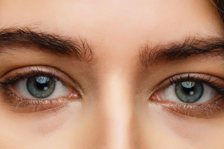 A close up portrait of a beautiful brunette