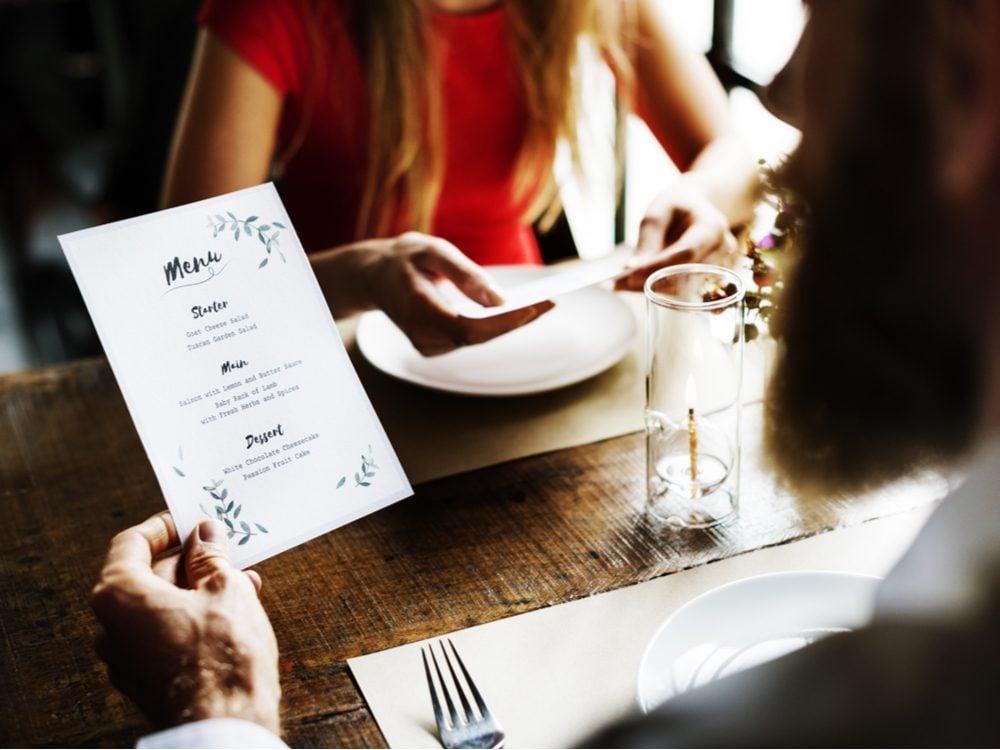 food tweets menu