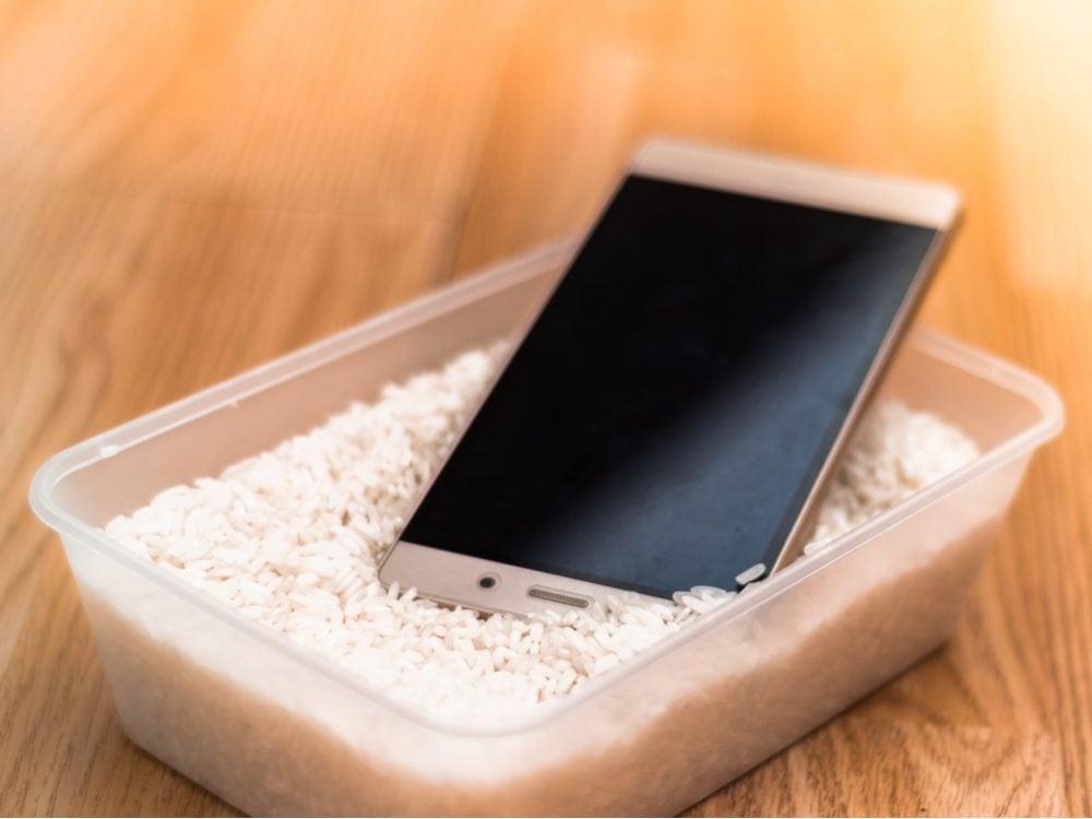 food tweets rice phone
