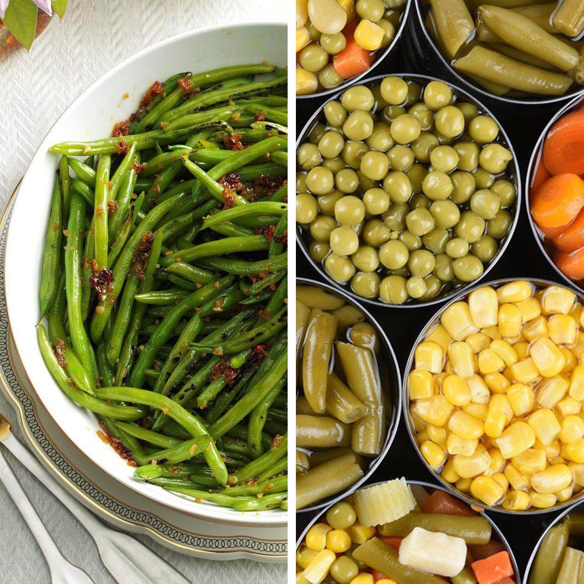 Fresh veggies vs canned