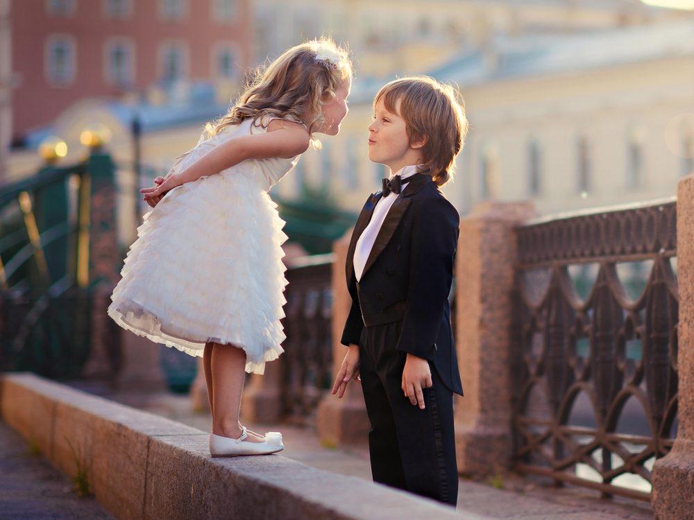 Cute children playing dress up