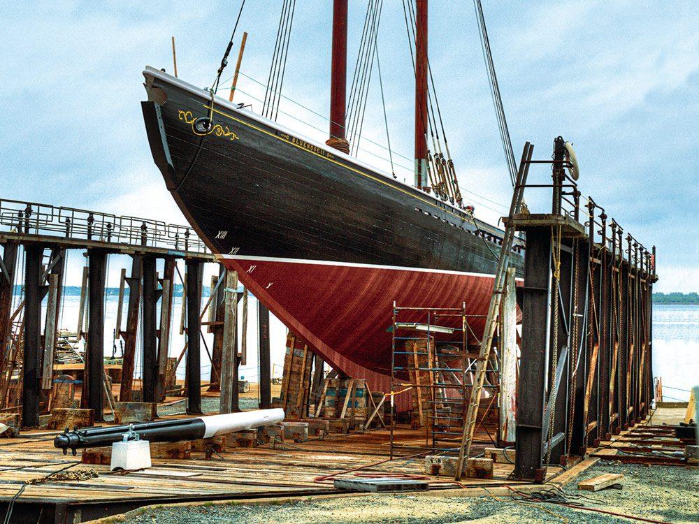 Bluenose II restoration in Lunenburg