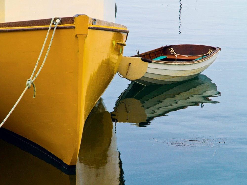 Wooden boats in Lunenberg, Nova Scotia