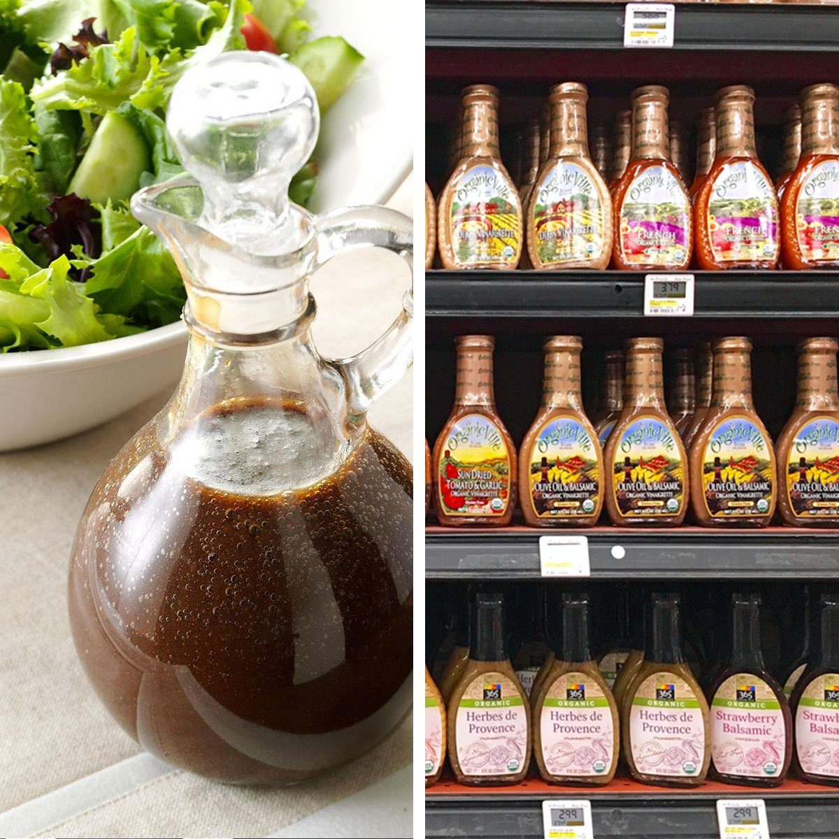 Homemade salad dressing vs store bought