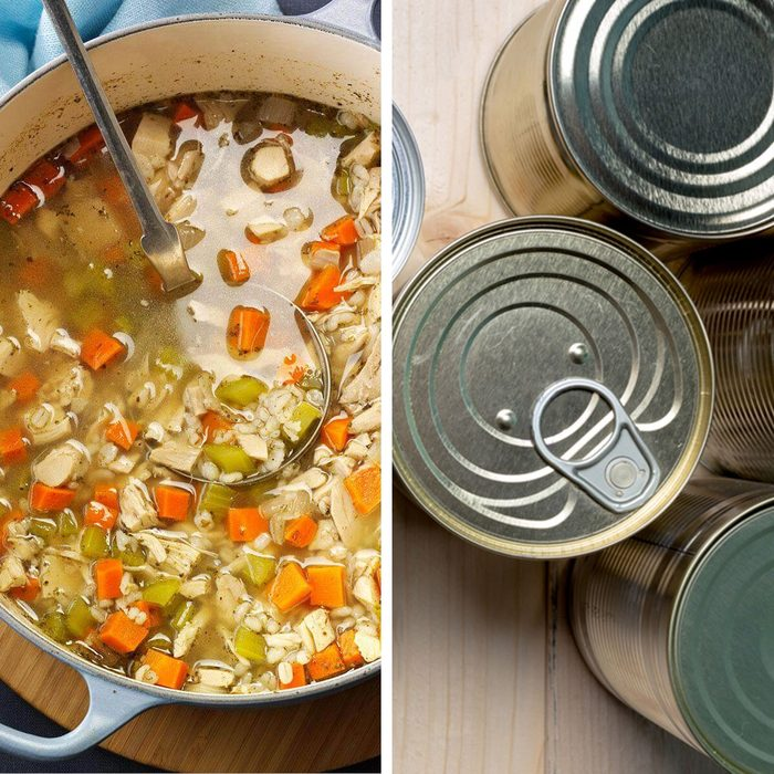 low-sodium foods - Homemade soup vs canned