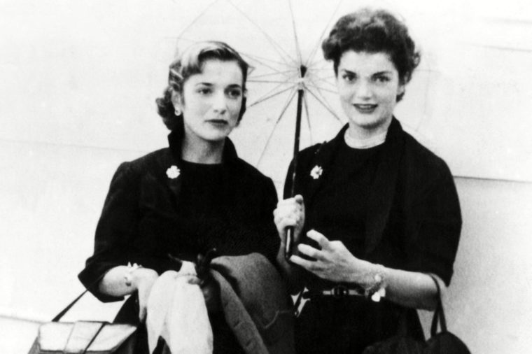 Jacqueline Bouvier and sister Lee