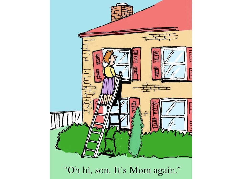 kids jokes comic mom ladder