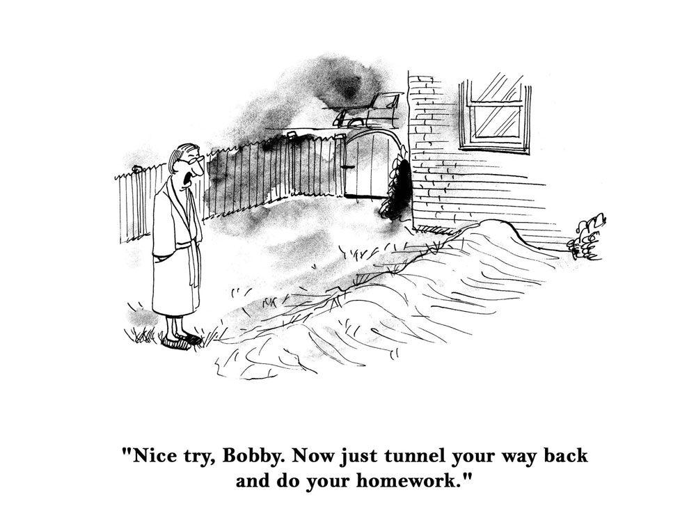 kids jokes comic tunnel