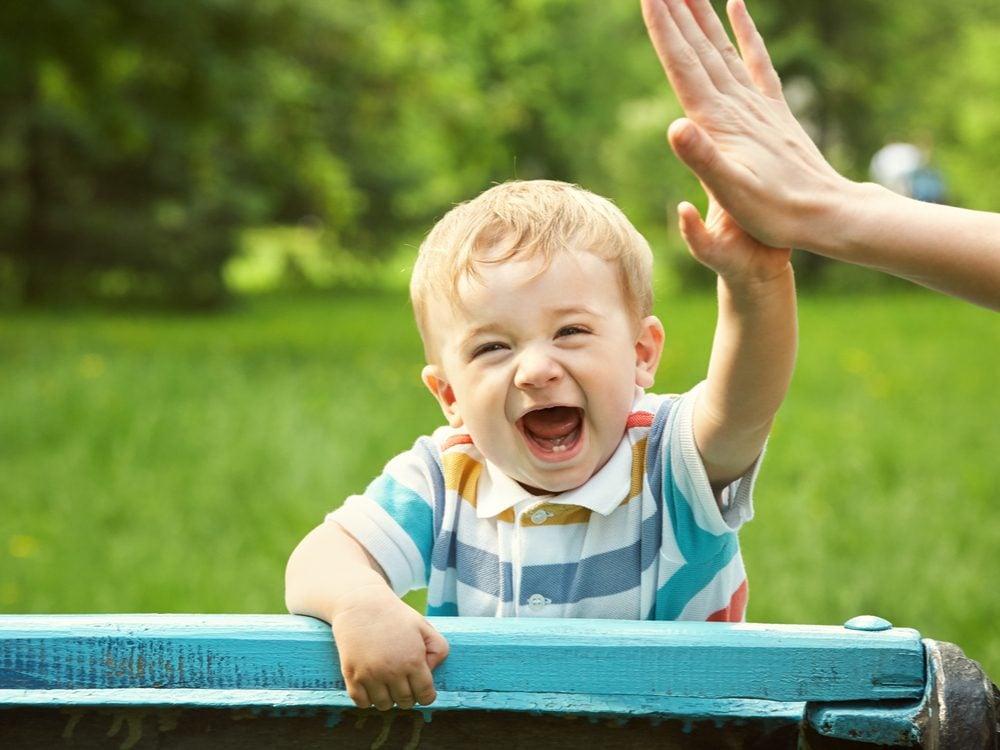 kids jokes high five