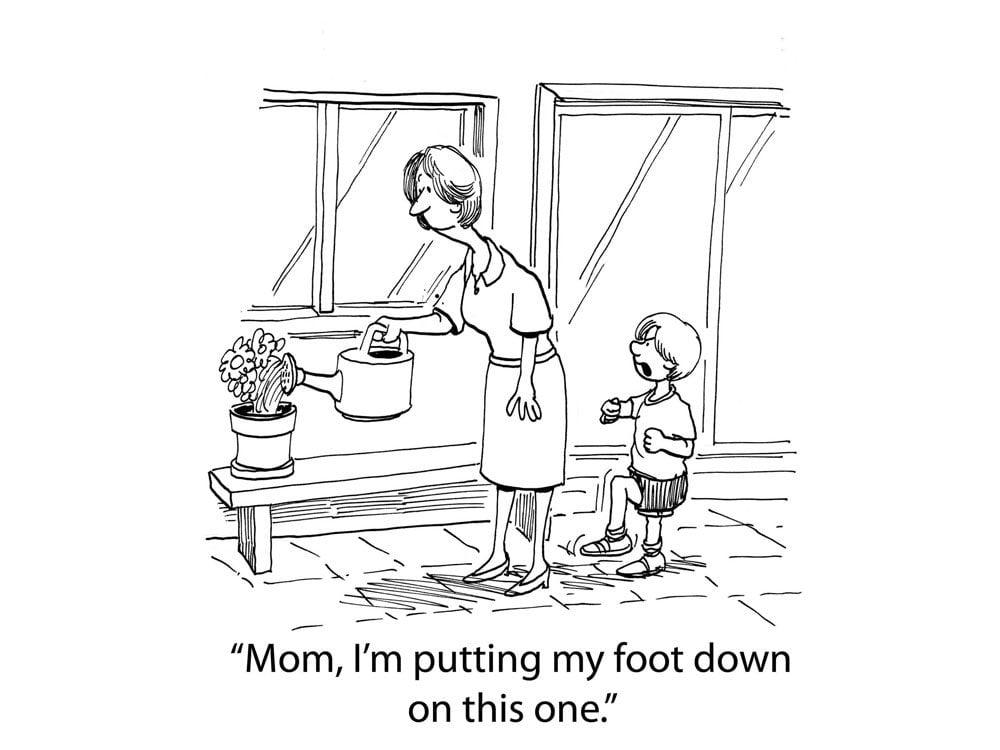 kids jokes comic foot down