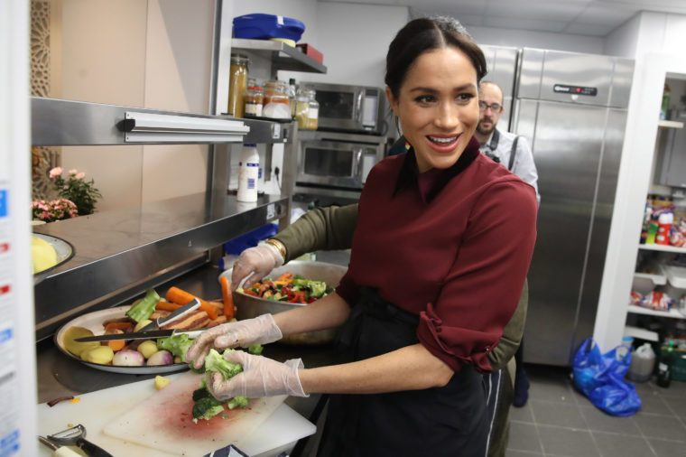 Meghan Duchess of Sussex visits the Hubb Community Kitchen