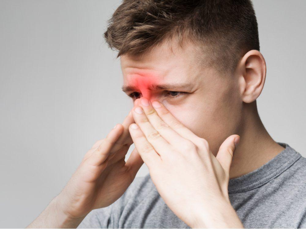 nosebleeds man nose