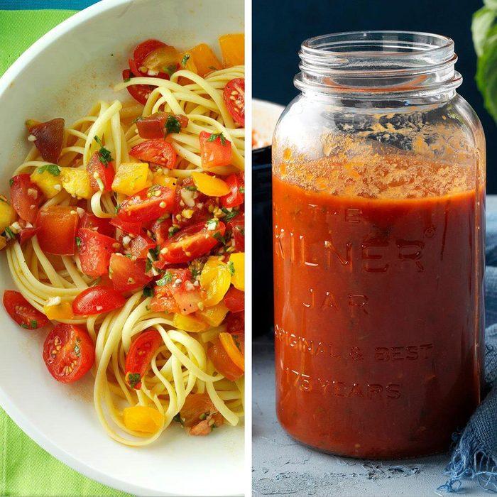 low-sodium foods - Pasta and jarred sauce