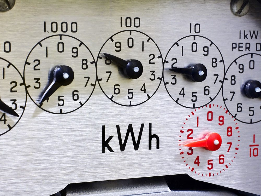 Save on summer utility bills - electricity metre