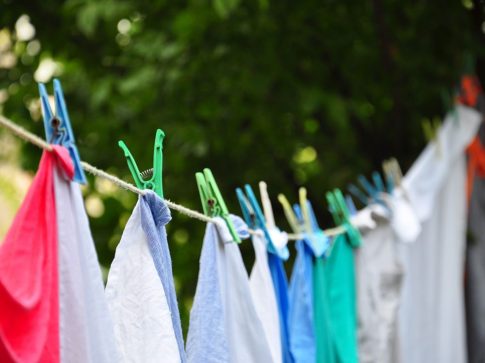 Save on summer utility bills - line dry laundry