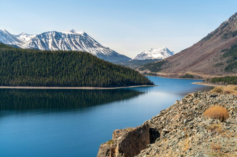 Lakes along the Klondike Highway, Canada