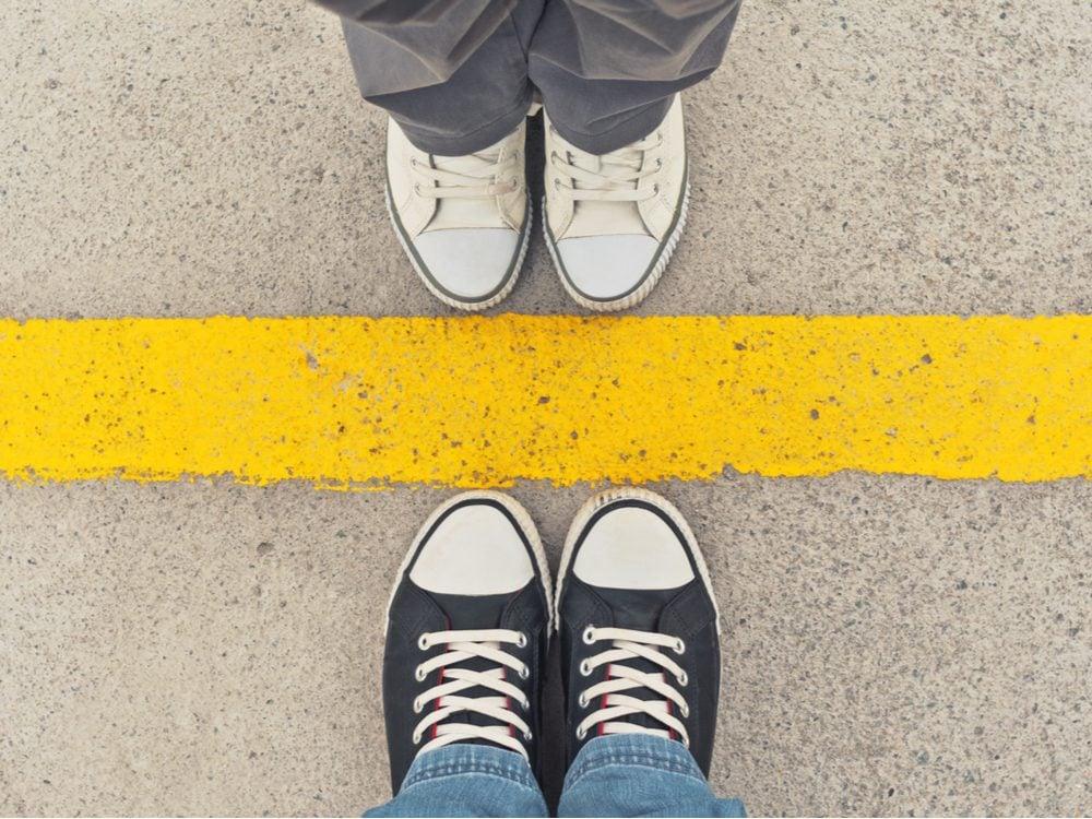 setting boundaries the line